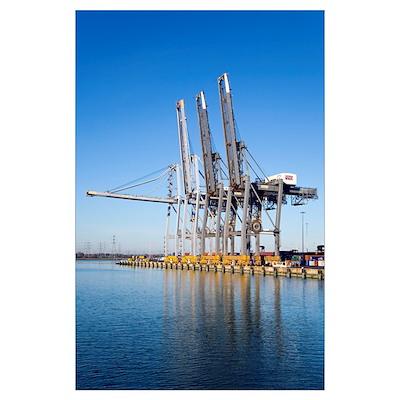 Dockside cranes Poster