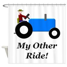 My Other Ride Blue Shower Curtain