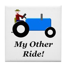 My Other Ride Blue Tile Coaster