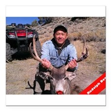 "Rudolph Down Square Car Magnet 3"" x 3"""