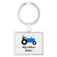 My Other Ride Blue Landscape Keychain