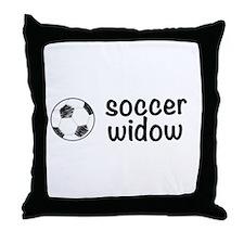 soccer widow Throw Pillow