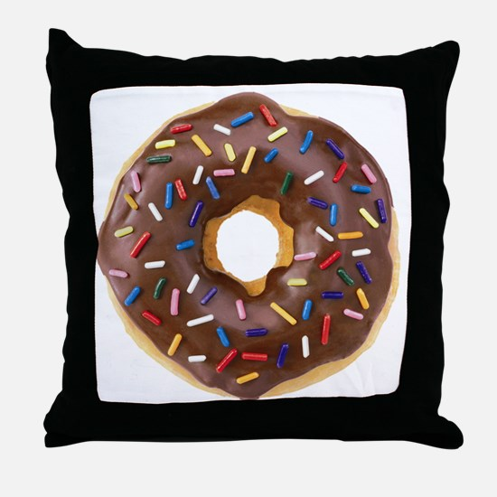 Doughnut Lovers Throw Pillow