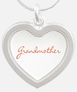 Grandmother Silver Heart Necklace