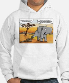 snake trying to gulp an elephant Hoodie