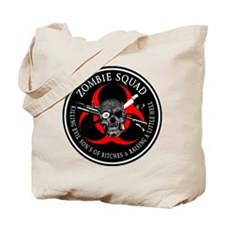 Zombie Squad 3 Ring Patch Tote Bag