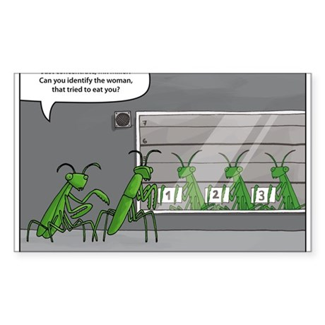 mantis identification Sticker (Rectangle)