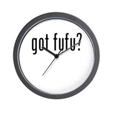 got fufu? Wall Clock