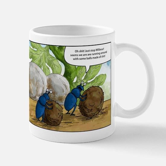 dung beetles cartoon Mug