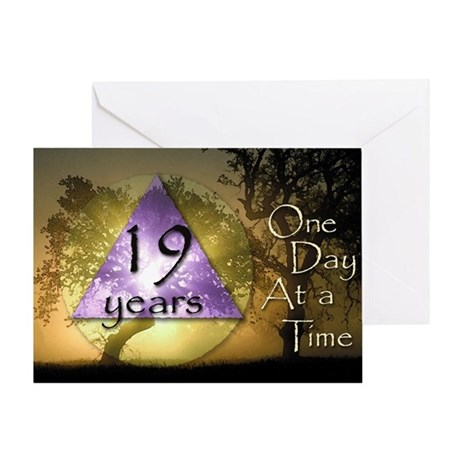 19 Year Birthday Greeting Card - One Day at a Time