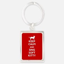 Keep Calm and Sing Soft Kitty Portrait Keychain