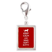Keep Calm and Sing Soft Kitty Silver Portrait Char