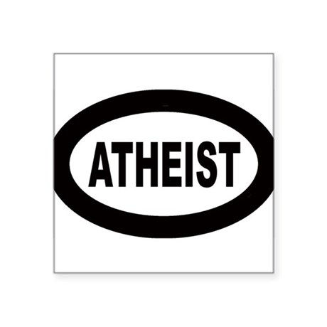 Atheist Oval Sticker