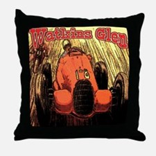 Watkins Glen Racing Throw Pillow