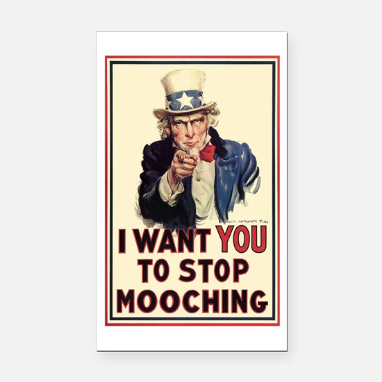 Uncle Sam I want YOU Rectangle Car Magnet
