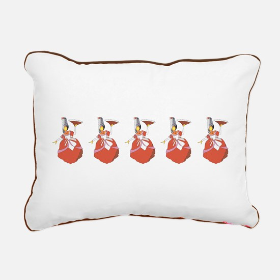 The Holiday Victorian Rectangular Canvas Pillow
