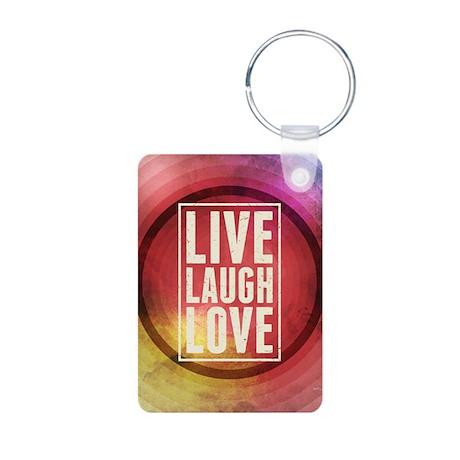 Live Laugh Love Aluminum Photo Keychain