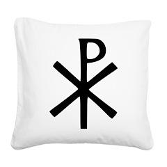 Chi Rho (XP Christogram) Square Canvas Pillow