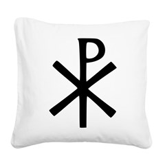 Chi Rho (XP Christogram) Square Canvas Pillow