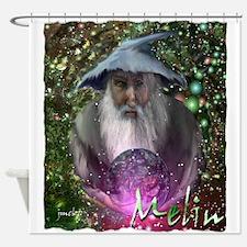 merlin the magician art illustration Shower Curtai