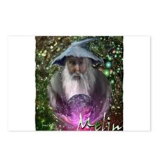 merlin the magician art illustration Postcards (Pa