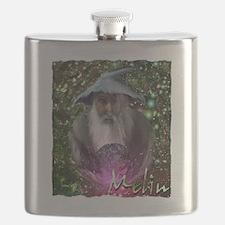 merlin the magician art illustration Flask