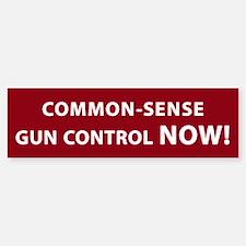 Common Sense Gun Control NOW! Bumper Bumper Sticker