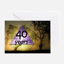 40 Year Birthday Greeting Card - One Day at a Time