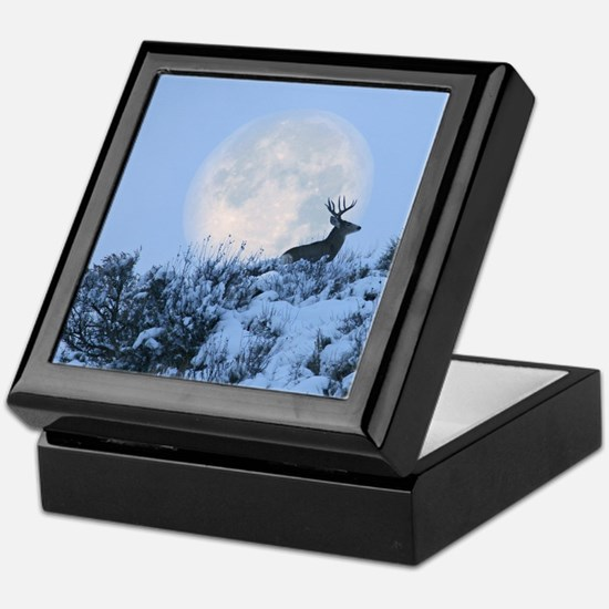 Buck deer moon Keepsake Box