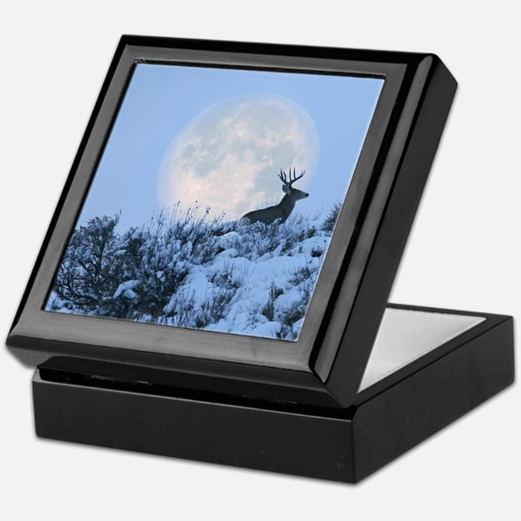 Buck deer moon Keepsake Box