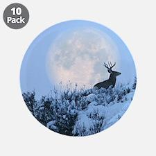"""Buck deer moon 3.5"""" Button (10 pack)"""