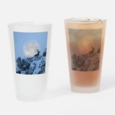 Buck deer moon Drinking Glass