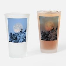 Buck deer moon Drinking Glass