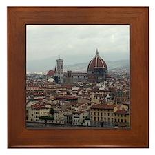 Florence Cityscape Framed Tile