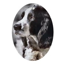 English Sp;ringer Spaniel Ornament (Oval)
