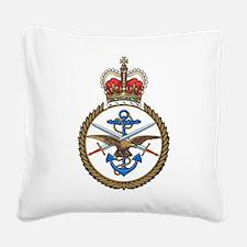 MoD emblem UK Square Canvas Pillow