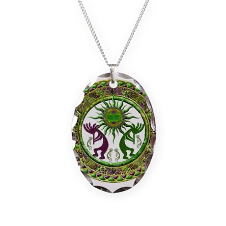 Best Seller Kokopelli Necklace Oval Charm