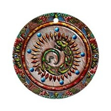 Zuni Lizard Ornament (Round)