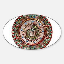 Zuni Lizard Sticker (Oval)