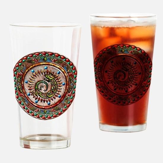 Zuni Lizard Drinking Glass
