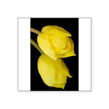 """Yellow Tulip Square Sticker 3"""" x 3"""""""