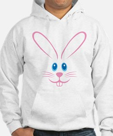Pink Bunny Face Hoodie