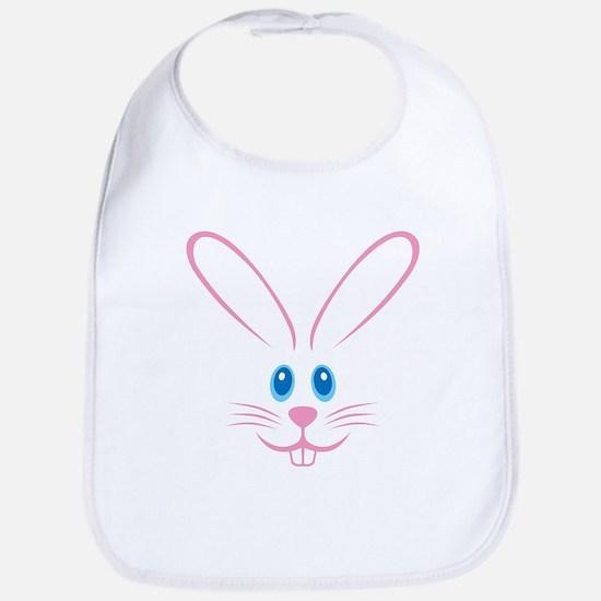 Pink Bunny Face Bib
