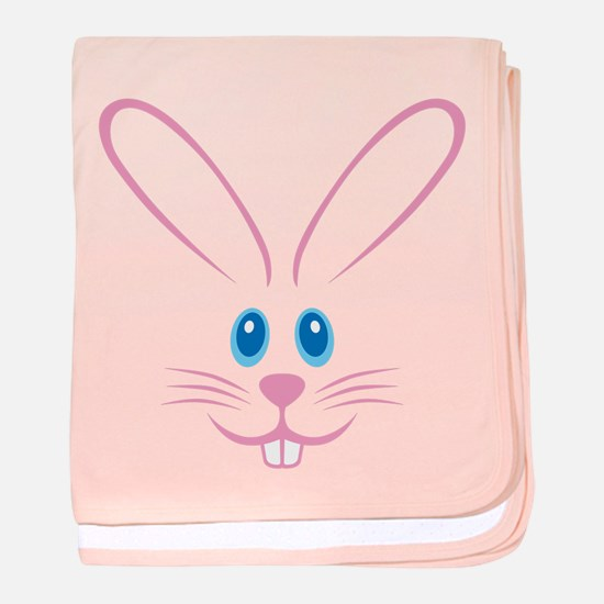 Pink Bunny Face baby blanket