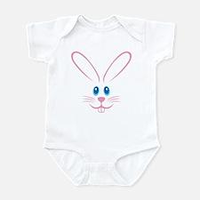 Pink Bunny Face Infant Bodysuit