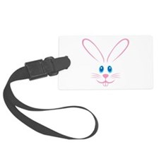 Pink Bunny Face Luggage Tag