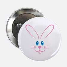 """Pink Bunny Face 2.25"""" Button"""