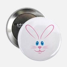 """Pink Bunny Face 2.25"""" Button (100 pack)"""
