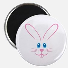 Pink Bunny Face Magnet