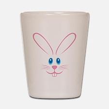 Pink Bunny Face Shot Glass